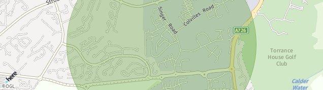 Map of East Kilbride
