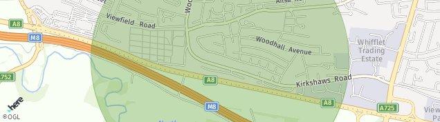 Map of Coatbridge