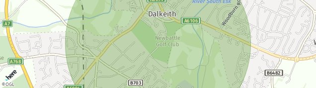 Map of Dalkeith