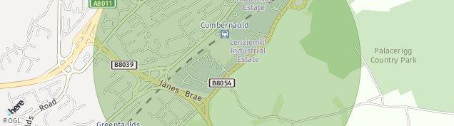 Map of Cumbernauld