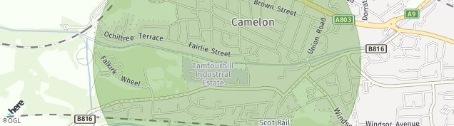 Map of Camelon