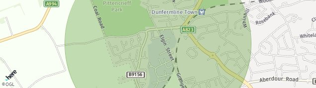Map of Dunfermline