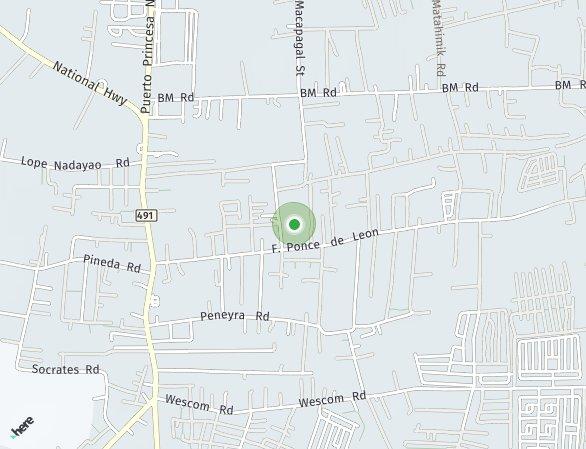Peta lokasi East Bay Palawan